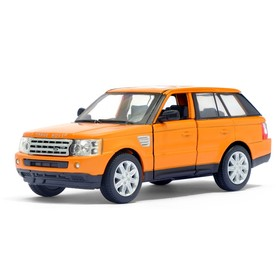 Машина металлическая Range Rover Sport, 1:38, открываются двери, инерция, цвет оранжевый