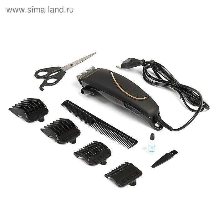 Машинка для стрижки HOME ELEMENT HE-CL1004, 12 Вт, 4 насадки, сталь, черная жемчуг