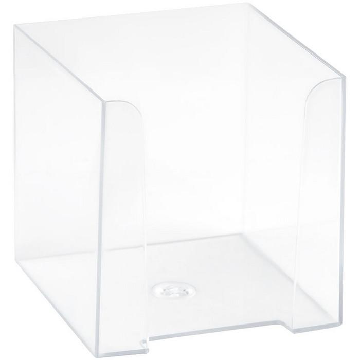 Подставка для бумажного блока 90 х 90 х 90 мм, пластиковая, прозрачная