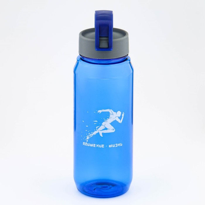 Бутылка для воды 650 мл I'm the best, со шкалой, микс, 8х8х24 см