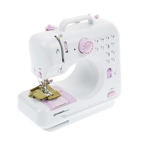 Швейная машинка FIRST FA-5700-2, 12 операций, полуавтомат, от батареек/сети, бело-фиолетовая Ош