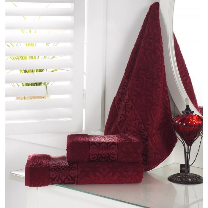 Полотенце Sahra, размер 50 × 90 см, бордовый