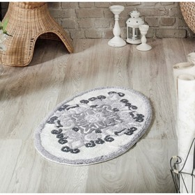 Коврик для ванной Vera, размер 50х80 см, цвет серый