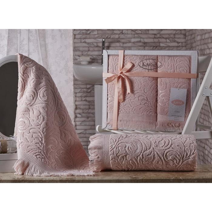 КМП Esra, 50 × 90 см - 1 шт, 70 × 140 см - 1 шт, цвет абрикосовый