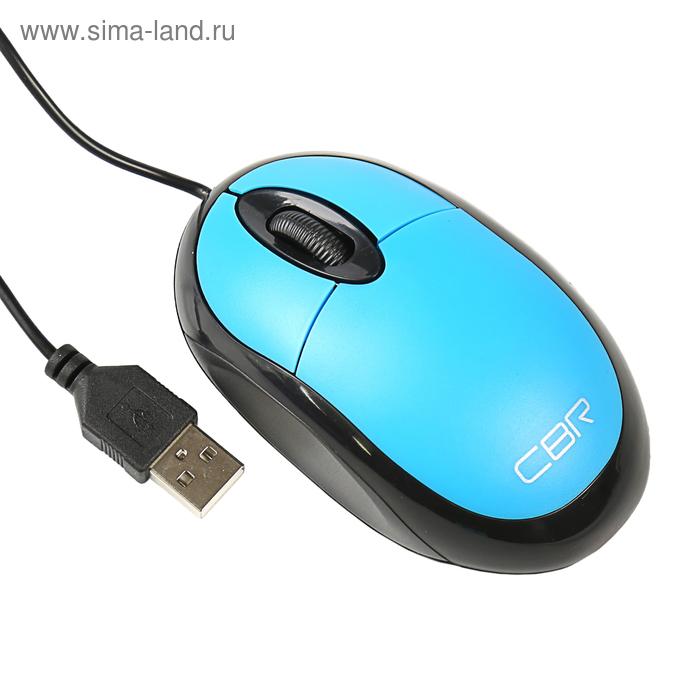 Мышь CBR CM-102, проводная, оптическая, 1200 dpi, USB, синяя