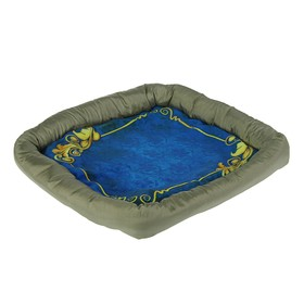 Лежанка с бортом 'Узор синий', 42 х 42 х 5 см Ош
