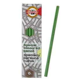 Карандаш незаточенный 4.3 мм, Koh-I-Noor 3263/3, по стеклу, металлу, пластику, зелёный, L=175 мм Ош