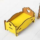 Набор деревянной мебели для кукол «Спальня» - Фото 4
