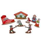 Кукольный театр сказки на столе «Красная шапочка» высота фигурок: 4-12 см - Фото 3