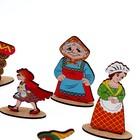 Кукольный театр сказки на столе «Красная шапочка» высота фигурок: 4-12 см - Фото 4
