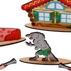 Кукольный театр сказки на столе «Красная шапочка» высота фигурок: 4-12 см - Фото 5