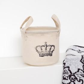Корзинка текстильная 'Корона' 12 х 10 см Ош