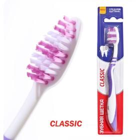 Зубная щётка Rendall Classic, средней жёсткости, 1 шт МИКС