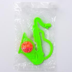 Погремушка «Саксофон», цвета МИКС Ош