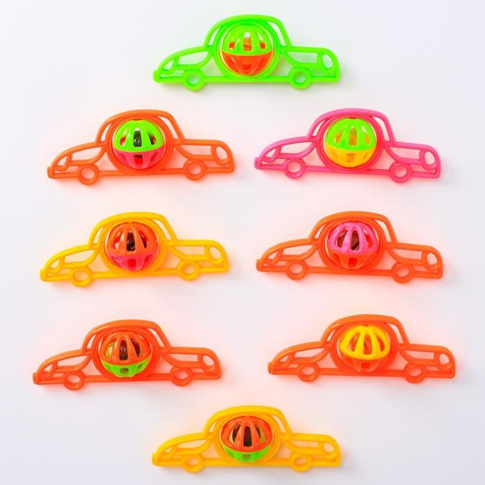Погремушка «Машинка», цвета МИКС