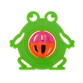 Погремушка «Лягушка», цвета МИКС