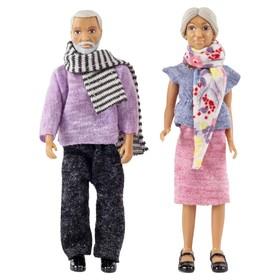 Кукла для домика «Бабушка с дедушкой»