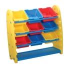 Система хранения для игрушек и конструкторов KING KIDS, полка и 9 контейнеров