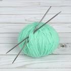 Спицы для вязания, прямые, d = 3,5 мм, 20 см, 2 шт