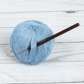Крючок для вязания, d = 1,5 мм, 14 см, цвет коричневый Ош