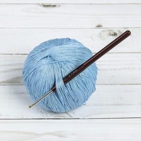 Крючок для вязания, d = 2,1 мм, 14 см, цвет коричневый Ош