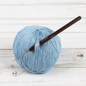Крючок для вязания, d = 0,5 мм, 14 см, цвет коричневый Ош