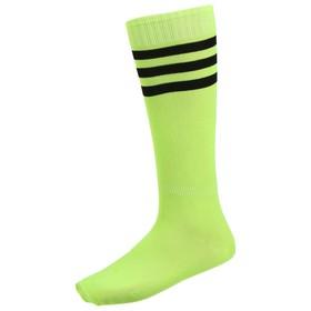 Гетры футбольные, безразмерные, цвет салатовый Ош