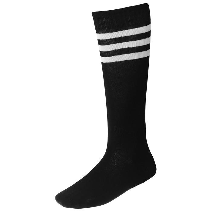 Гетры футбольные, размер 38-39, цвет чёрный