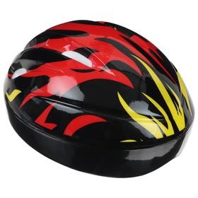 Шлем защитный детский OT-H6, размер S, 52-54 см, цвет чёрный Ош