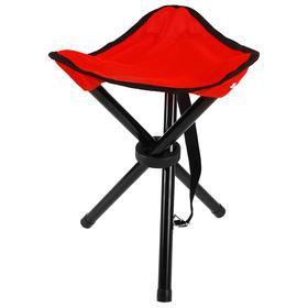 Стул туристический треугольный, 28 х 26 х 36 см, до 60 кг, цвет красный Ош