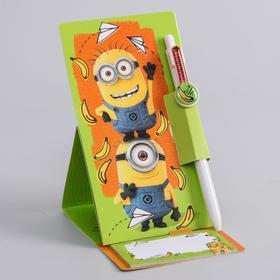 """Ручка на подставке с блоком """"Банана"""", Гадкий Я"""