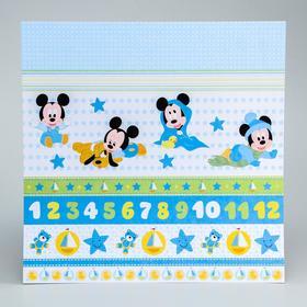 Бумага для скрапбукинга 30,5*30,5 'Наш малыш', Микки Маус и друзья Ош