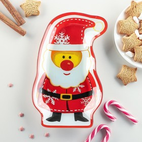 Блюдо сервировочное Доляна «Санта Клаус», 24,2×15,5 см