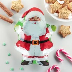 Блюдо сервировочное Доляна «Дед Мороз», 19×13,5×2 см