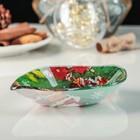 Блюдо сервировочное Доляна «Лист. Удачи, Санта», 14×12×2 см - Фото 2