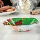 Блюдо сервировочное Доляна «Лист. Снеговичок», 14×12×2 см - Фото 2