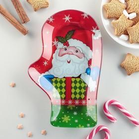Блюдо сервировочное Доляна «Рукавица. Дари подарки», 22,5×14×2 см