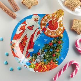 Блюдо сервировочное Доляна «Ёлочная игрушка. 5 минут», 18,2×15,5×1,7 см