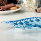 Блюдо сервировочное Доляна «Колокольчик. Синева роз», 18×17×1,5 см - Фото 2