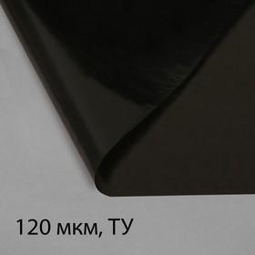 Плёнка полиэтиленовая, техническая, толщина 120 мкм, 3 × 10 м, рукав (1,5 м × 2), чёрная, 2 сорт, Эконом 50 % Ош
