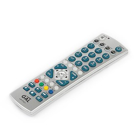 Пульт ДУ GAL LM-P001, для ТВ, Ресиверов, и т.д., 45 кнопок, универсальный, серый Ош