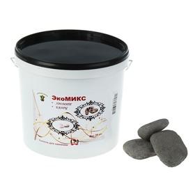 Камень для бани 'Экомикс' хромит, кварц обвалованный, ведро 20 кг Ош
