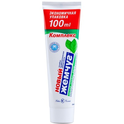 Зубная паста Новый Жемчуг, с лёгким ароматом мяты, 100 мл