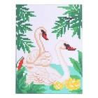 Набор для творчества. Канва для вышивки крестиком «Лебеди», 20 х 15 см