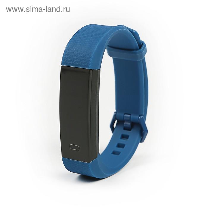"Фитнес браслет Smarterra FitMaster 3, 0.87"", IP67, пульсометр, датчик давления, синий"