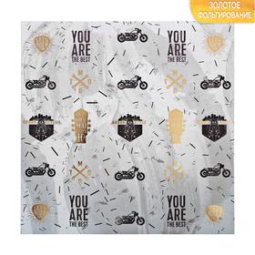 Бумага для скрапбукинга с фольгированием «Мужская», 30.5 × 30.5 см, 250 г/м Ош