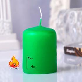 Свеча - цилиндр, 4х5см, зелёная