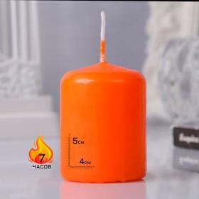 Свеча - цилиндр, 4х5см, оранжевая