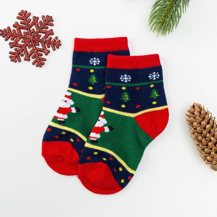 Носки детские Collorista «Дед Мороз», размер 25-28 (15-18 см), (3-5 лет)