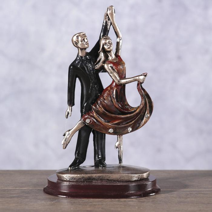 Сувенир полистоун Пируэт Танцующая пара 14х9х6,4 см